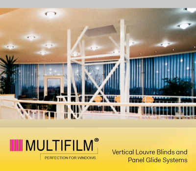 windowcool multifilm - Vertical Louvre Blinds and Panel Glide Systems